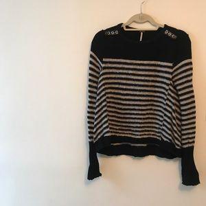 Free People B&W Striped Sweater